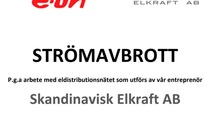 Strömavbrott 14/4 12.00-16.00